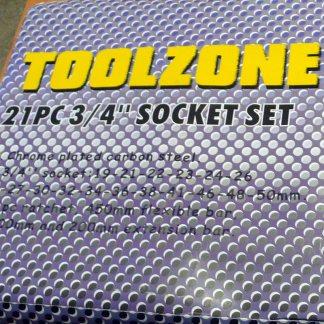 """Toolzone 21pc 3/4"""" Socket Set"""