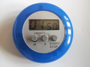 Photo of a small timer clock