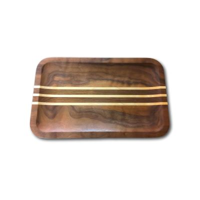 Rectangle Striped Valet Tray