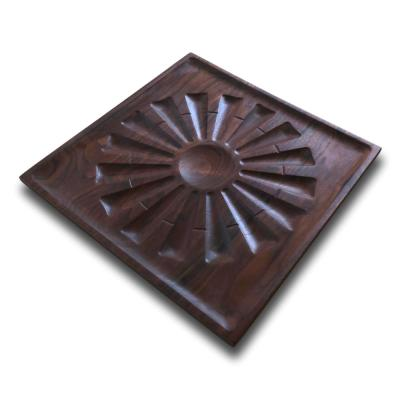 Walnut Square Windmill Serving Tray