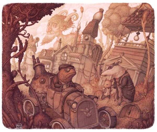 Toad Hall Steampunk Illustration Art Classic Book