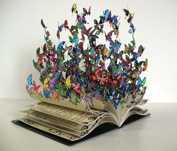 Book Of Life Colorful Metal Art Sculpture David