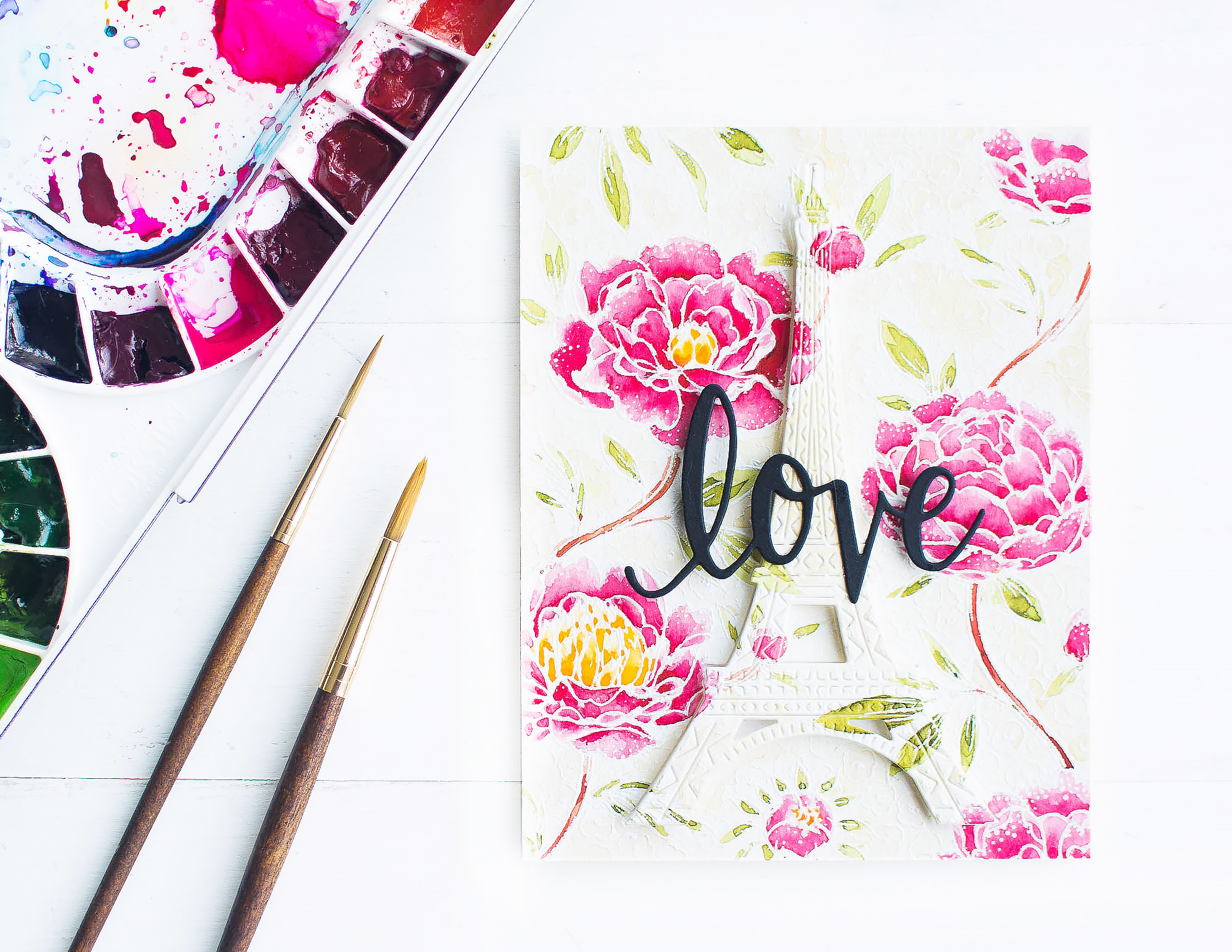 video-watercolor-card-white-embossed-floral-background