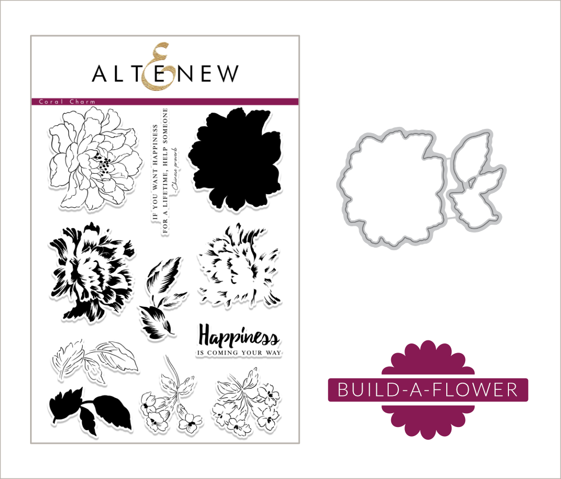 Altenew Build-A-Flower Coral Charm