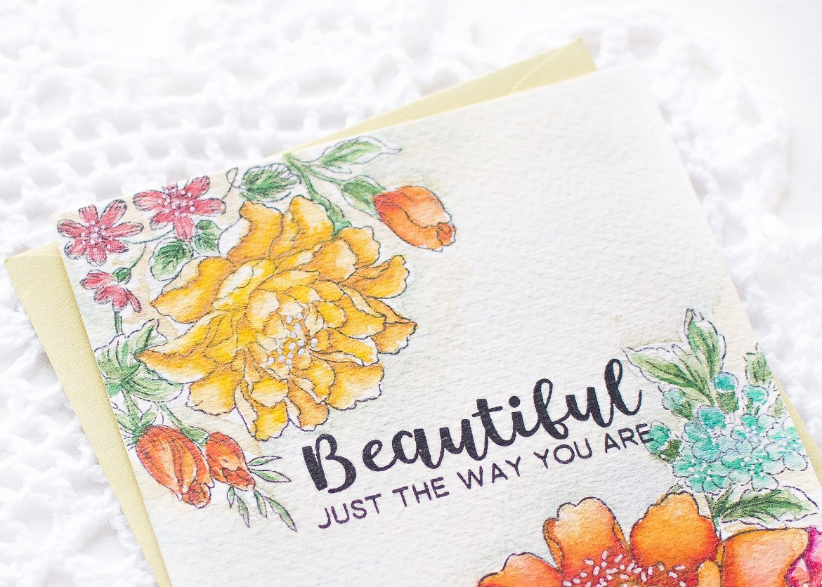 Altenew-Floral Watercolor Card-May Park
