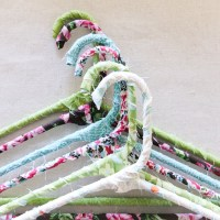 DIY Floral Fabric Hangers