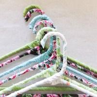 DIY Floral Fabric Hangers