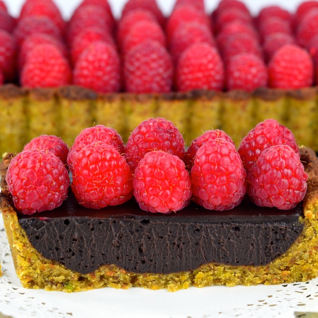 Chocolate Raspberry Tart #Chocolate #raspberry #tart #vegan #glutenfree #kosher #dessert