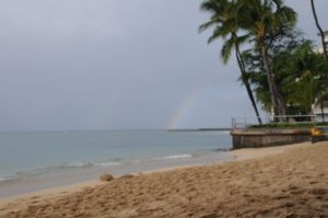 double rainbow in Oahu