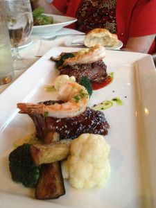 short ribs with gingered shrimp