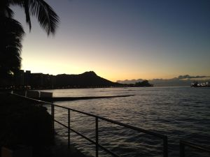 Diamondhead at sunrise