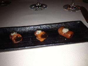 sashimi of steelhead trout