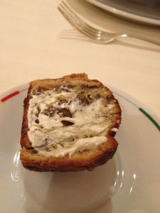 brioche with black truffle butter