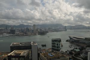 view from the Island Shangri-la Hotel