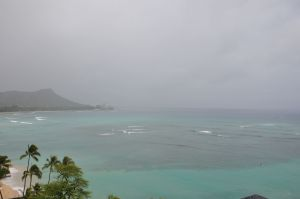 Tropical Storm Flossie approaching