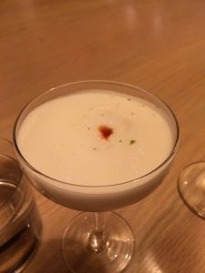 hot & cold pisco sour
