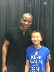 Marcus with August Richards (aka Deathlok)