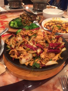 stir fried chicken with hot peppers