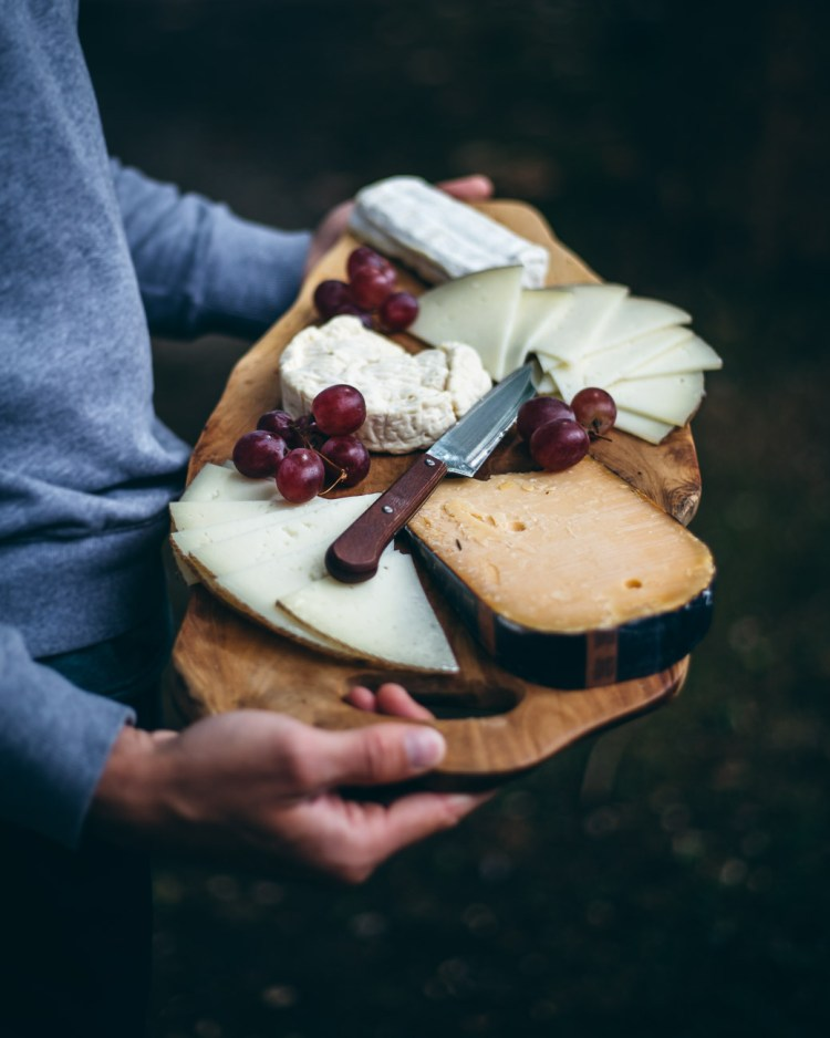 cheese platter food photography and styling