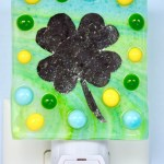 Fused Glass 4-Leaf Clover Nightlight
