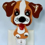 Fused Glass Boxer Dog Nightlight