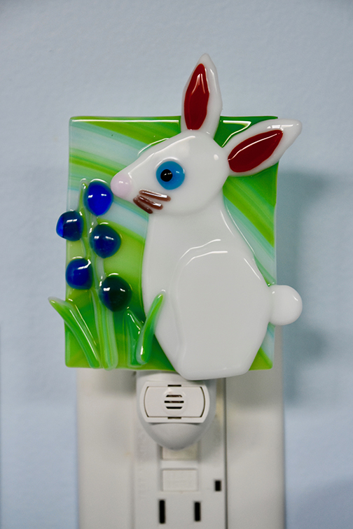 Fused Glass Bunny Night Light