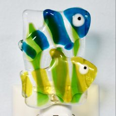 Clown Fish Fused Glass Night Light