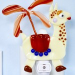 Fused Glass Proud llama Nightlight