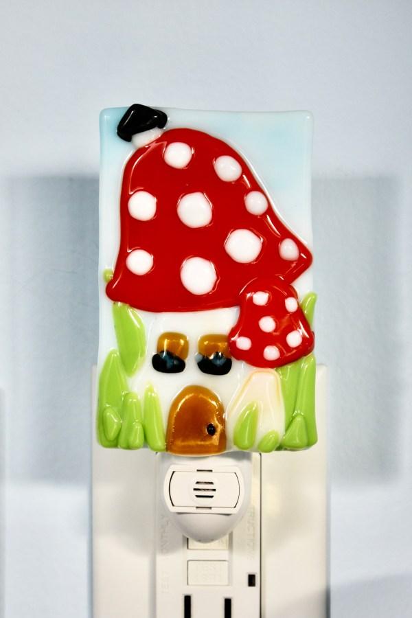 Mushroom Fused Glass Night Light
