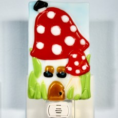Mushroom Fused Glass Night Light