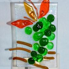 Fused glass Green Grapes nightlight