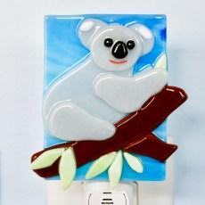 Koala Bear Fused Glass Night Light