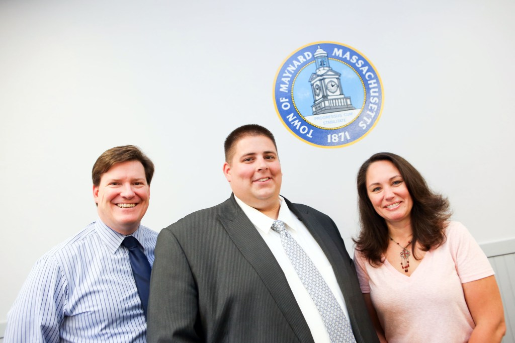 Assistant Town Administrator Andrew Scribner-MacLean,  Town Administrator Kevin Sweet, and Administrative Assistant Stephanie Duggan.
