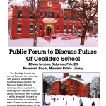 Event: Public Forum to Discuss Future of Coolidge School