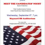 Meet the Candidates Night Sept. 6th MHS Auditorium 7pm