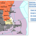 From MEMA: High Temperatures Today and Potential for Strong or Severe Thunderstorms Later
