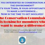 Looking to get involved?  The Conservation Commission has an opening!
