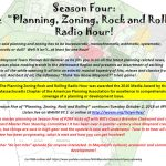 Planning, Zoning, Rock & Rolling Radio Hour is BACK!