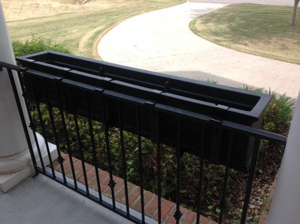 Mount Window Box Wrought Iron Railing