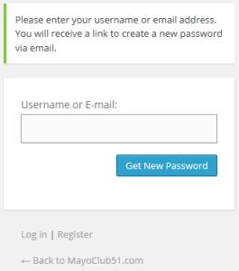 lost password log in