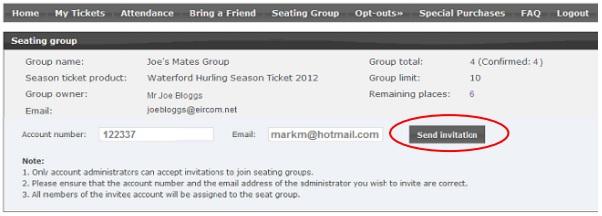gaa season ticket group seating set up