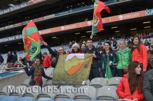 Mayo fans at Croke Park