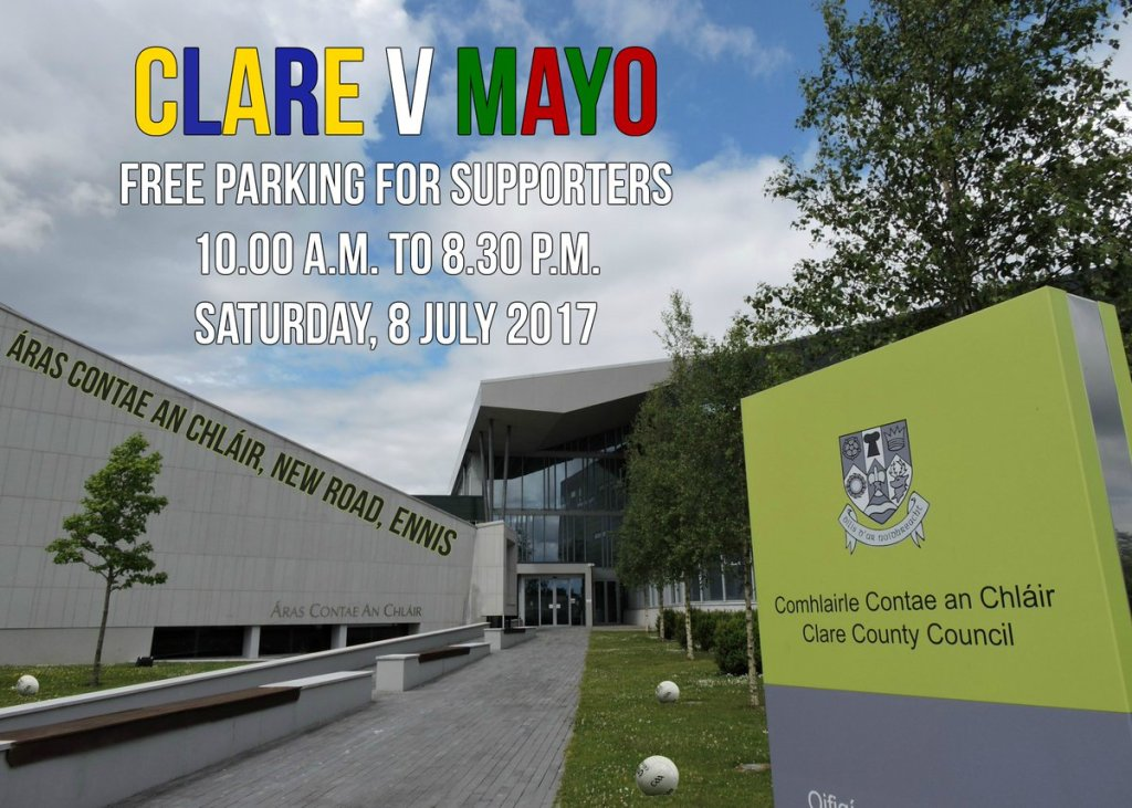 Clare county council offer free parking for Mayo fans