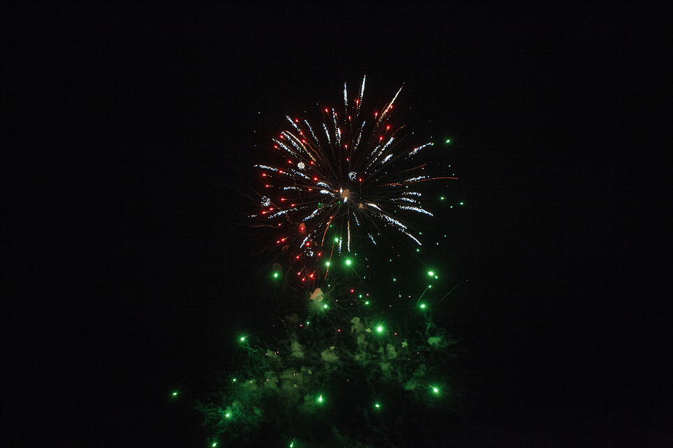 western-style pop-out fireworks.