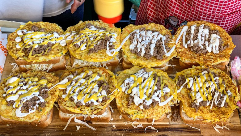 Cheese + Bulgogi Three-Layered Toast / Korean Street food