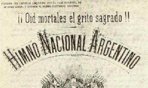 Letra antigua del himno nacional argentino