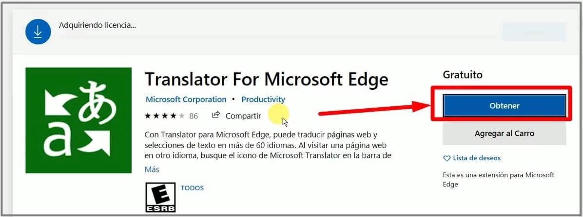 como traducir una página en ms edge