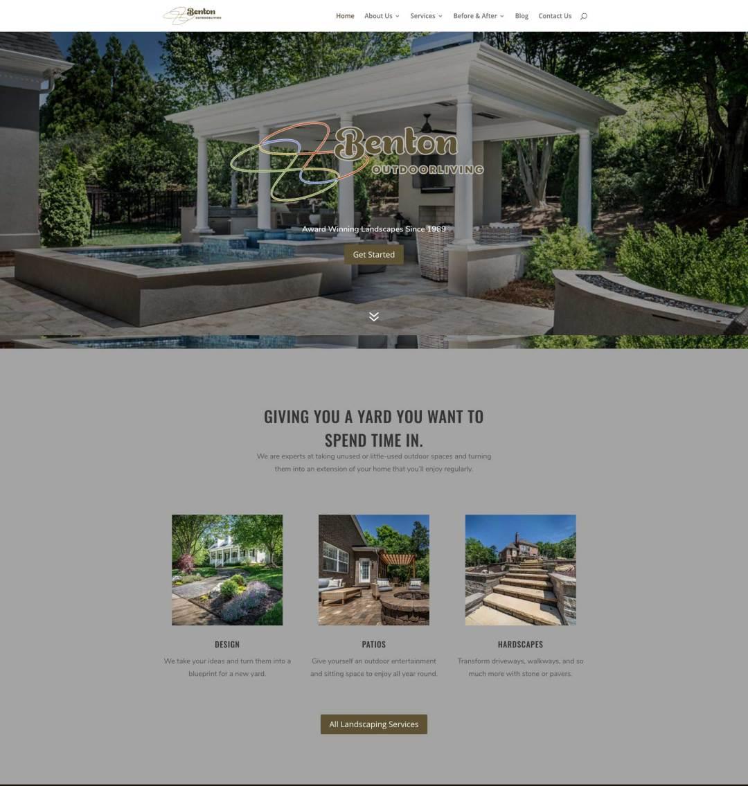 Benton Outdoor Living, Award-Winning Website Design by The Mayoros Agency in Fort Mill, Sc
