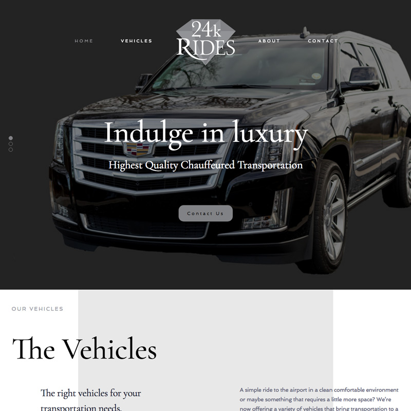 24kRides Website Design - Award Winning 2018