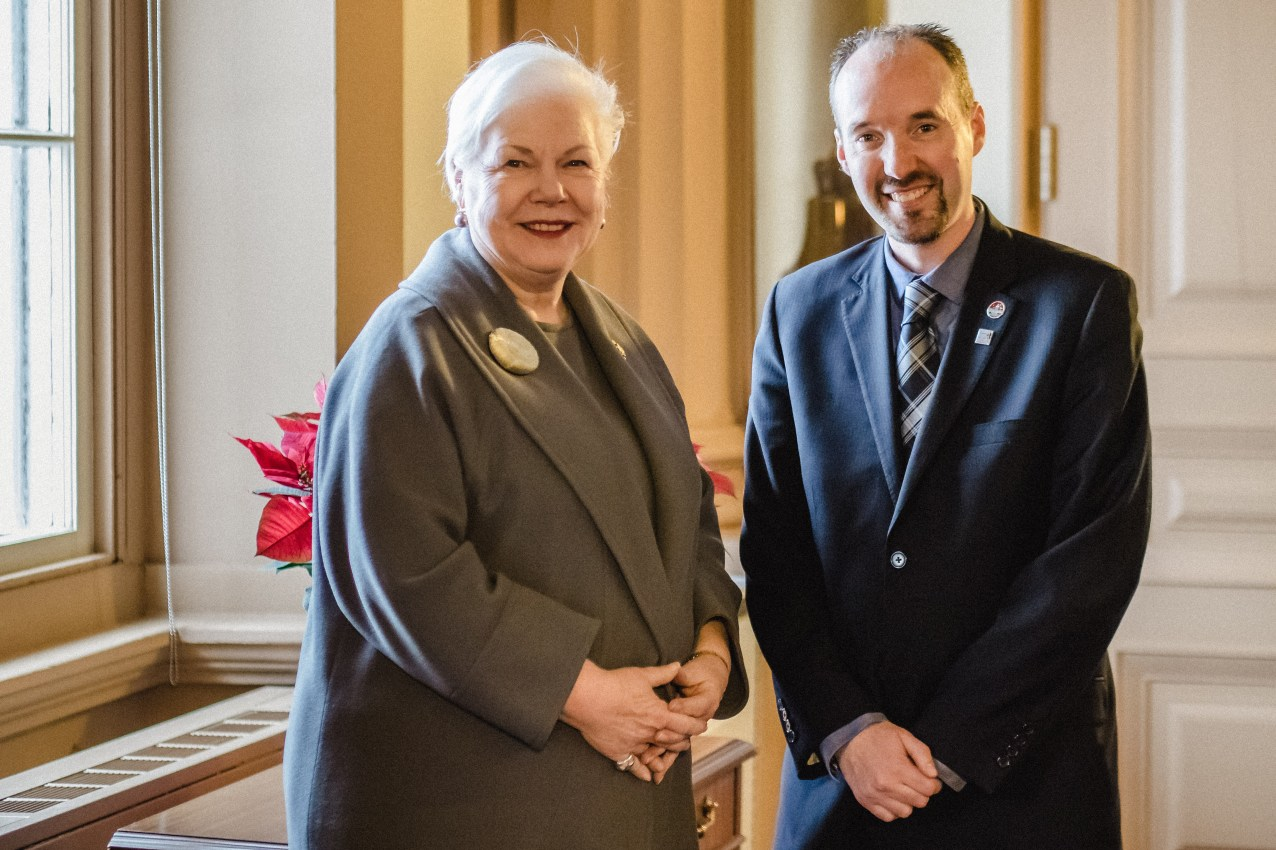 Welcoming Lt. Governor of Ontario, Elizabeth Dowdeswell, to Kingston - Jan. 11